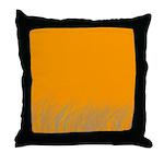 Orange Meadow Throw Pillow