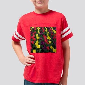 Rainbow Tulips Youth Football Shirt