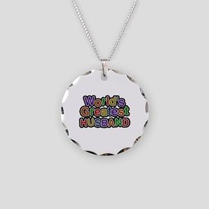 World's Greatest Husband Necklace Circle Charm