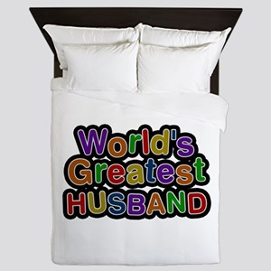 World's Greatest Husband Queen Duvet