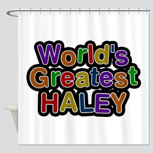 World's Greatest Haley Shower Curtain