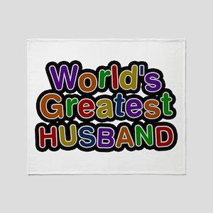 World's Greatest Husband Throw Blanket