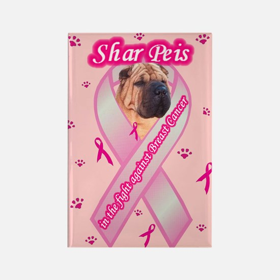 Cute I love my chinese shar pei Rectangle Magnet