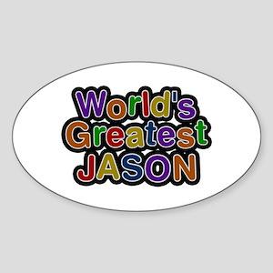 World's Greatest Jason Oval Sticker