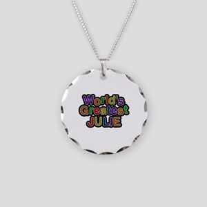 World's Greatest Julie Necklace Circle Charm