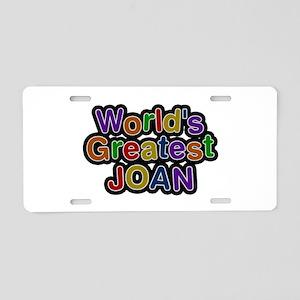 World's Greatest Joan Aluminum License Plate