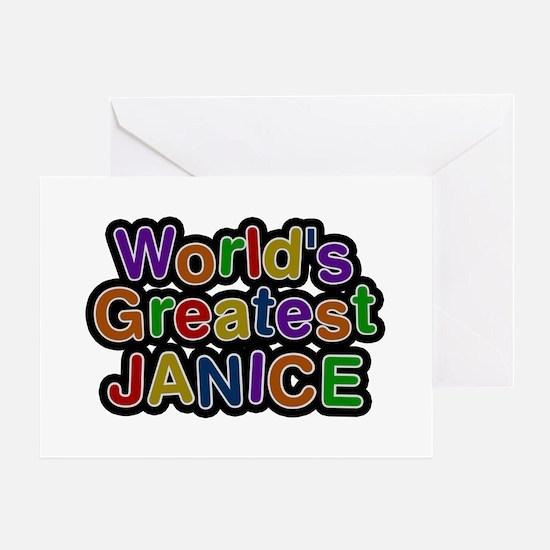 World's Greatest Janice Greeting Card