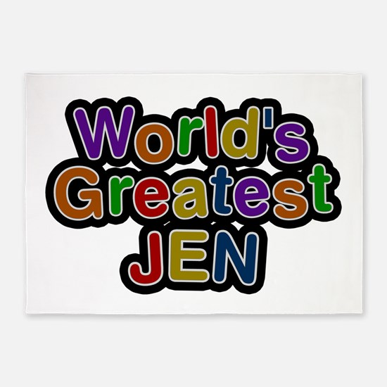 World's Greatest Jen 5'x7' Area Rug
