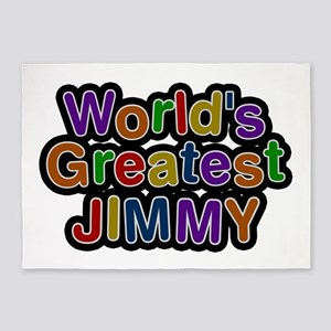 World's Greatest Jimmy 5'x7' Area Rug