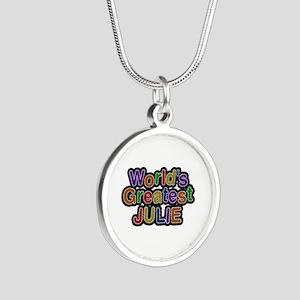 World's Greatest Julie Silver Round Necklace