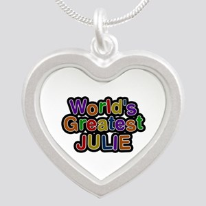 World's Greatest Julie Silver Heart Necklace