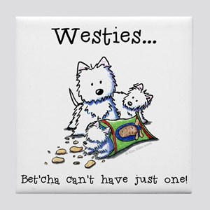 Westies Addict Tile Coaster
