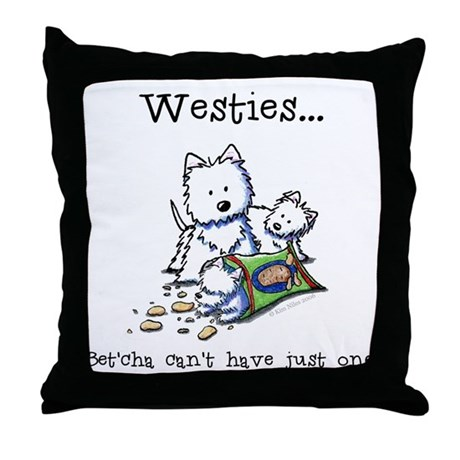 Westies Addict Throw Pillow