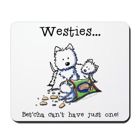 Westies Addict Mousepad