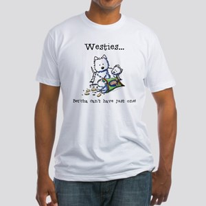 Westies Addict Fitted T-Shirt