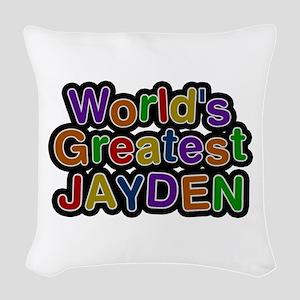 World's Greatest Jayden Woven Throw Pillow