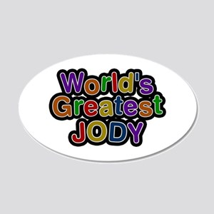 World's Greatest Jody 20x12 Oval Wall Decal