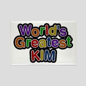 World's Greatest Kim Rectangle Magnet
