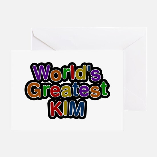 World's Greatest Kim Greeting Card