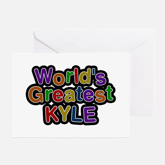 World's Greatest Kyle Greeting Card