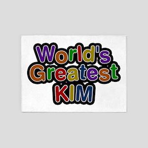 World's Greatest Kim 5'x7' Area Rug