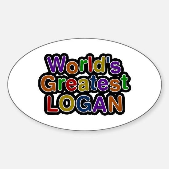 World's Greatest Logan Oval Decal