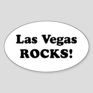 Las Vegas Rocks! Oval Sticker
