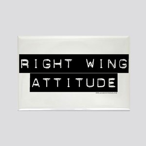 Right Wing Attitude Rectangle Magnet
