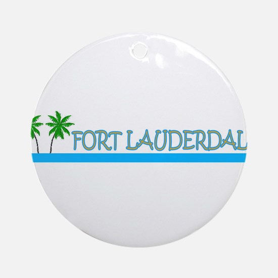 Fort Lauderdale, Florida Ornament (Round)