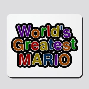 World's Greatest Mario Mousepad