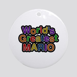 World's Greatest Mario Round Ornament