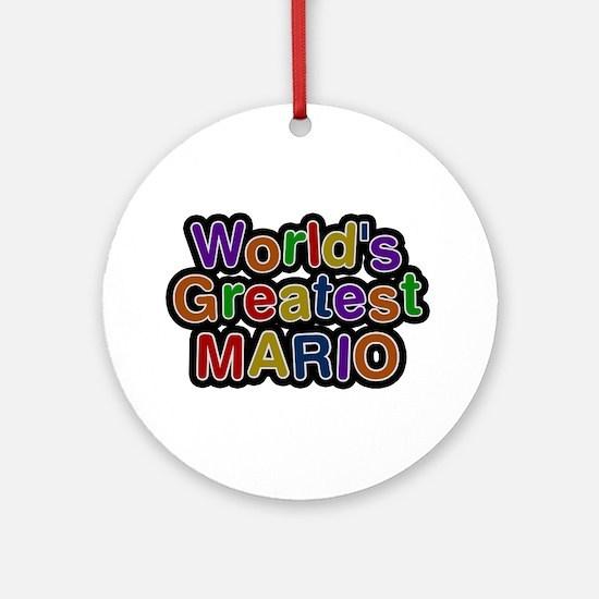World's Greatest Mario Round Ornament