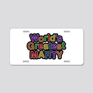 World's Greatest Marty Aluminum License Plate