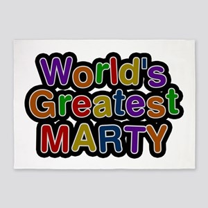 World's Greatest Marty 5'x7' Area Rug