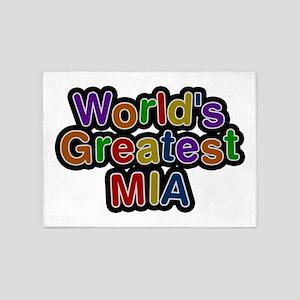 World's Greatest Mia 5'x7' Area Rug