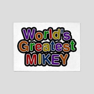 World's Greatest Mikey 5'x7' Area Rug