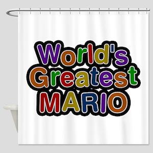 Worlds Greatest Mario Shower Curtain