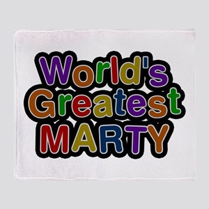 World's Greatest Marty Throw Blanket