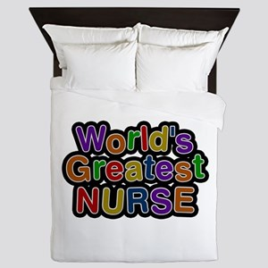 World's Greatest Nurse Queen Duvet