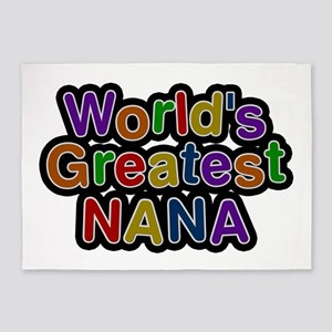 World's Greatest Nana 5'x7' Area Rug