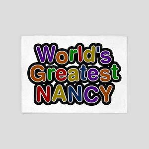 World's Greatest Nancy 5'x7' Area Rug