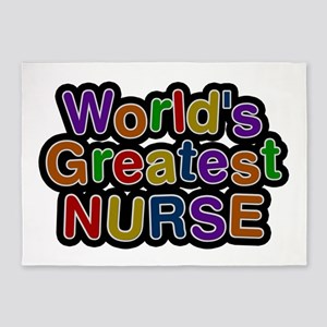 World's Greatest Nurse 5'x7' Area Rug