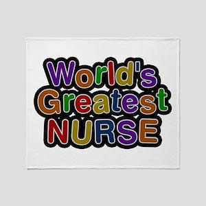 World's Greatest Nurse Throw Blanket