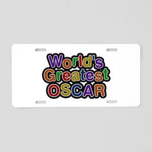 World's Greatest Oscar Aluminum License Plate