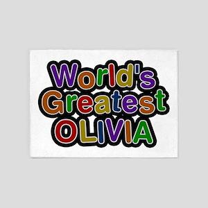 World's Greatest Olivia 5'x7' Area Rug