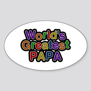 World's Greatest Papa Oval Sticker