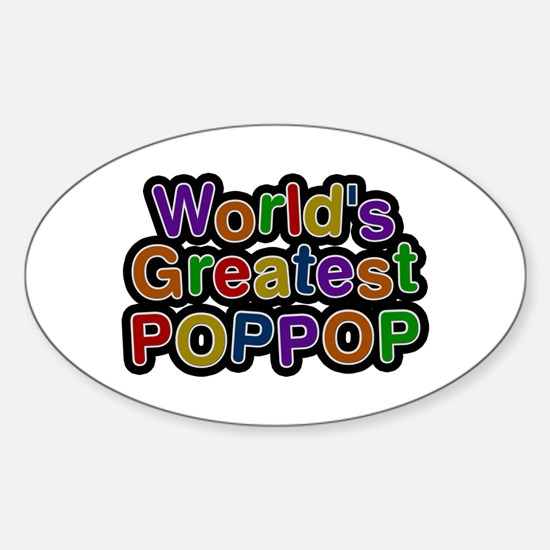 World's Greatest Poppop Oval Decal