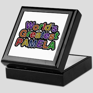 World's Greatest Pamela Keepsake Box