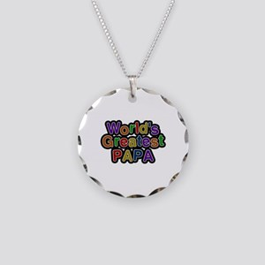 World's Greatest Papa Necklace Circle Charm