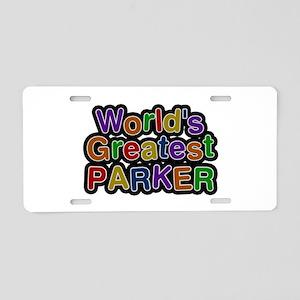 World's Greatest Parker Aluminum License Plate